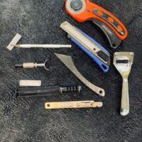 Ножи для работы с кожей